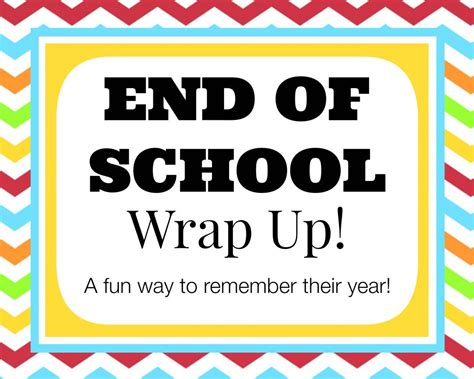 end of school wrap up a fun questionnaire to remember