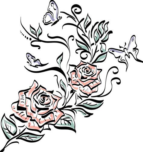 fiore rosa rossa immagine vettoriale gratis rosa fiore disegno rosa