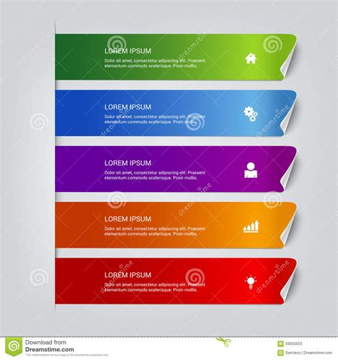 mockup design steps process steps labels vector infographics mockup template