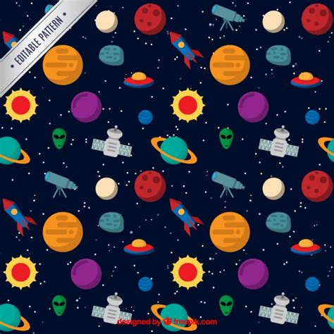space pattern background free space pattern vector free download