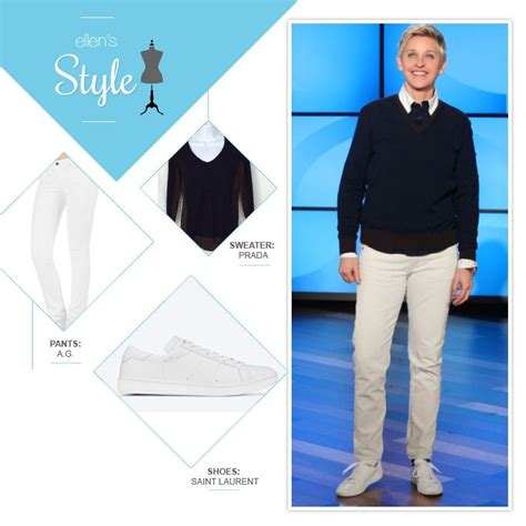 Degeneres Wardrobe Stylist by S Look Of The Day Sweater White White Shoes S Style The O