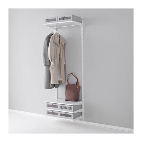 Clothes Storage Systems In Bedrooms Algot Wall Upright Shelves Rod Ikea