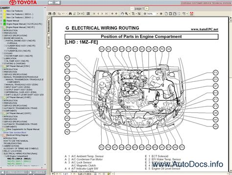 toyota camry 2001 2006 service manual repair manual order download
