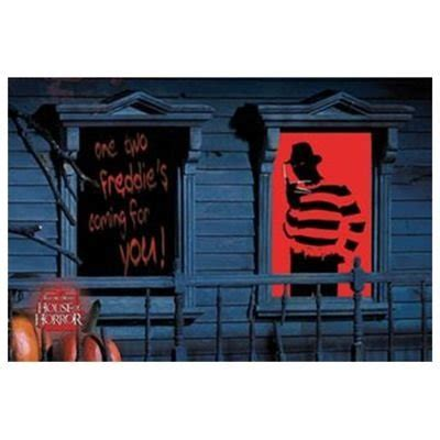 Home Halloween Decorations Freddy Krueger Window Silhouettes Holiday Supply