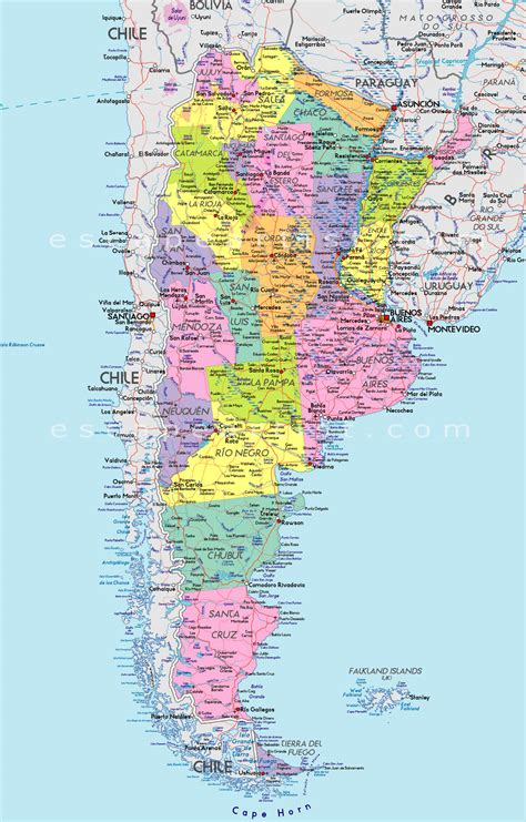 map of argentina cities map of argentina