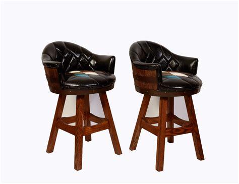 Barrel Bar Stools whiskey barrel bar stools pair mid century by