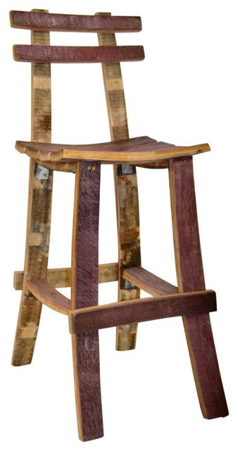 Wine Barrel Stools With Back by Wine Barrel Bar Stool W Back Rustic Bar Stools And