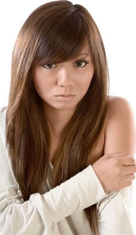 hairstyles bangs straight hair straight bangs hairstyle for round face women hairstyles