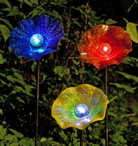 glass flower solar lights 27 outdoor solar lighting ideas to inspire