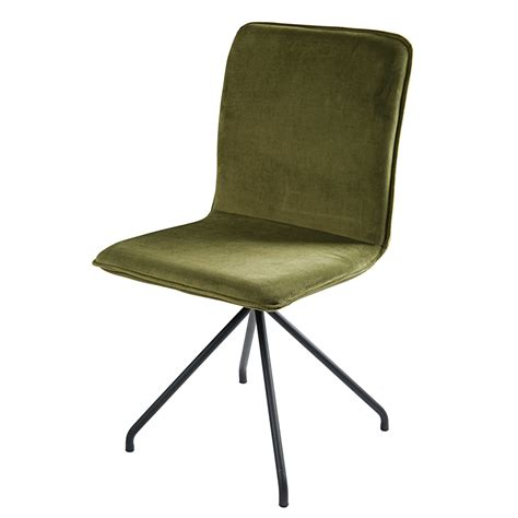 Olive House Metal Chair olive green velvet and black metal chair ellipse maisons