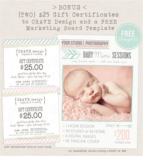 Extended 15 For Baby Announcement And Cd Dvd Bundle From Crave Design Save 86 Photo Deal Gift Certificate For Photography Session Templates
