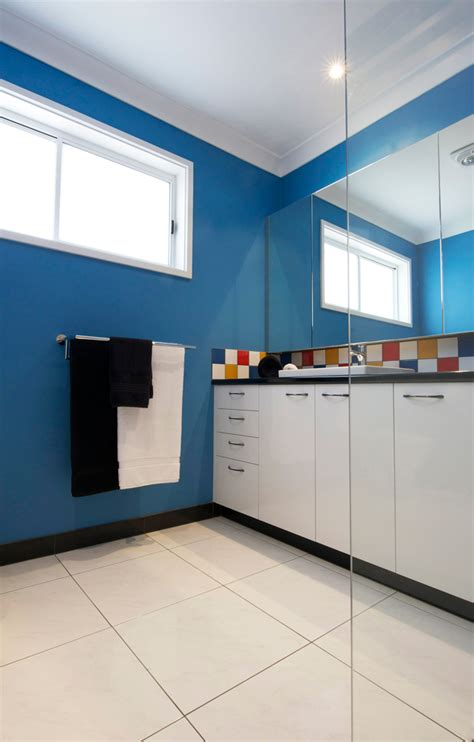 red and yellow bathroom bathroom renovationfun with colour kitchen update