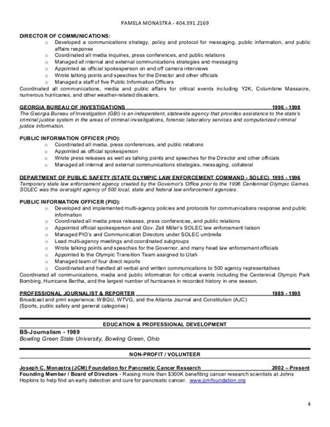 policy director resume