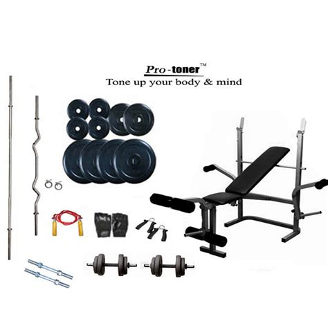 weights and bench package buy protoner weight lifting package 100 kg imported