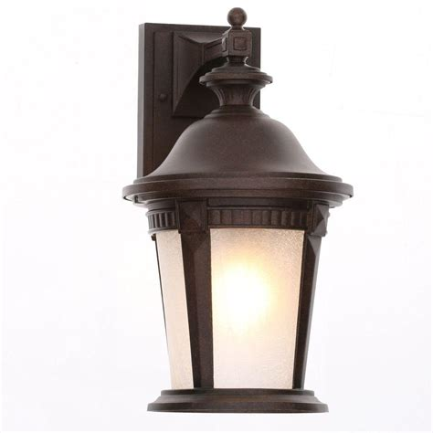 hton bay mystic bronze outdoor wall mount lantern