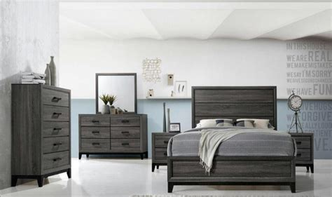 global bedroom furniture global furniture kate modern grey matt finish king bedroom