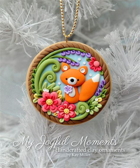 Diy Mit Kindern 4659 by Handcrafted Polymer Clay Fox Ornament Ideas