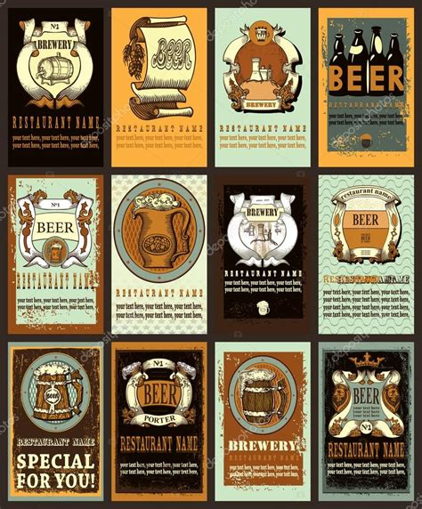 design beer label illustrator beer labels design set stock vector 169 htos 72972599
