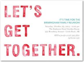 gala get together party invitations in winterberry or
