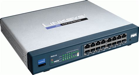 Router Cisco 16 Port networking switches and hubs cisco linksys rv016 vpn router w 16 port 10 100 switch