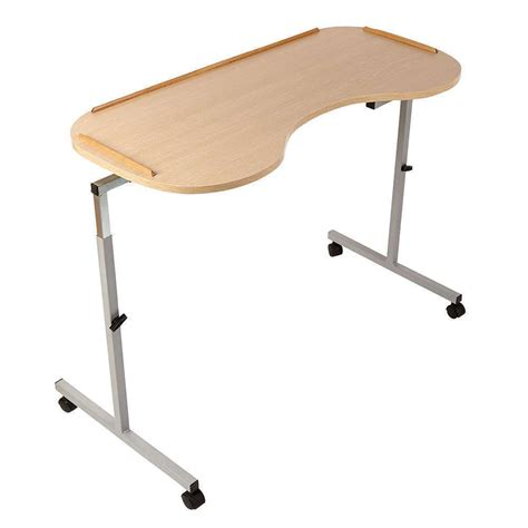 adjustable curved overbed chair table nrs healthcare