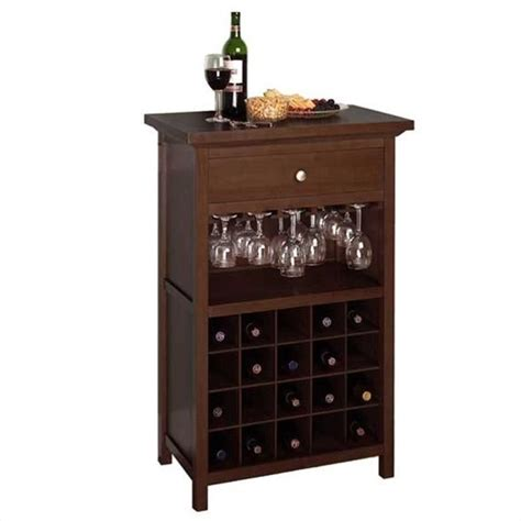 winsome regalia 20 bottle cabinet walnut wine rack ebay