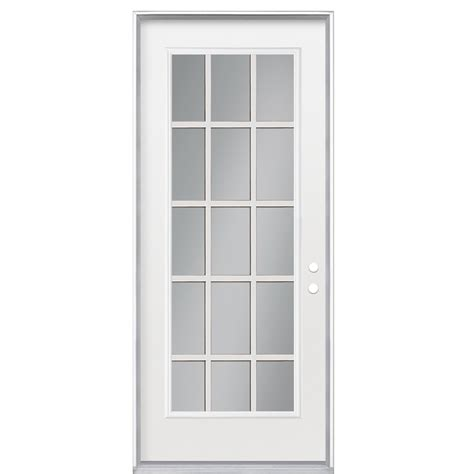 15 Light Exterior Door Shop Reliabilt 15 Lite Prehung Inswing Steel Entry Door Common 36 In X 80 In Actual 37 5 In