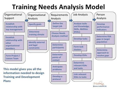 Organisational Needs Analysis Template
