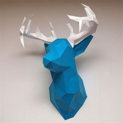 How To Make A Paper Deer - create faceted papercraft objects