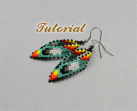 learn how to bead american pdf beaded earrings tutorial russian leaf american