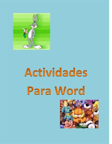 imagenes vectoriales para word actividades para word