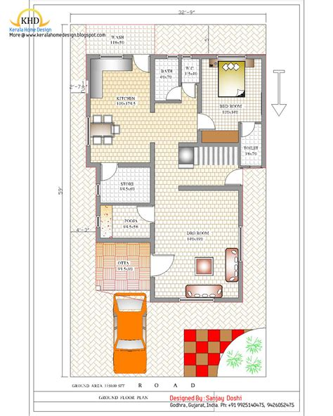 ground floor plan duplex house plan and elevation 2310 sq ft home