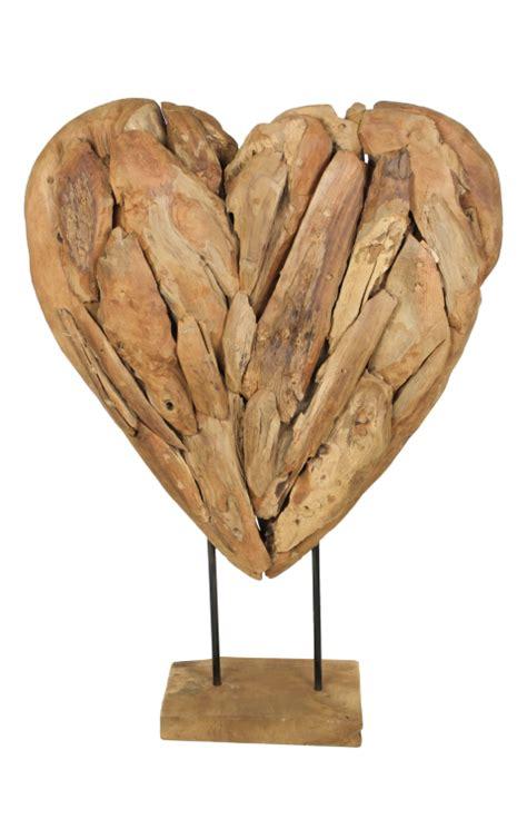 decoratie hart decoratie hart large teak decoratie dierenhuiden