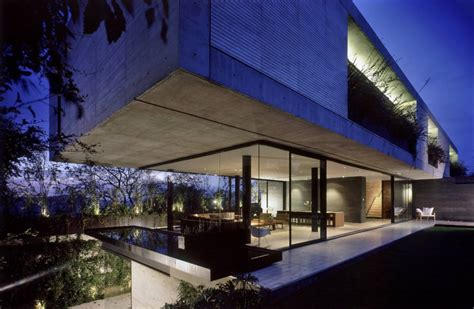 glass and concrete house concrete glass house in mexico city little bennet