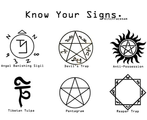 know your signs supernatural fan art 31663133 fanpop