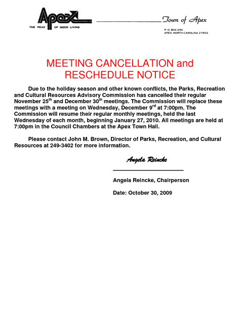 Apology Letter Rescheduling Event 28 sle apology letter cancellation meeting