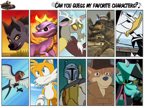 7 Of My Favorite Fictional Characters by My Favourite Fictional Characters By Dorek9999 On Deviantart