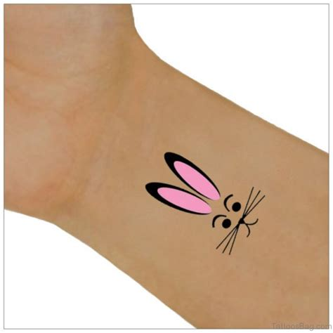 24 small rabbit tattoos on wrist