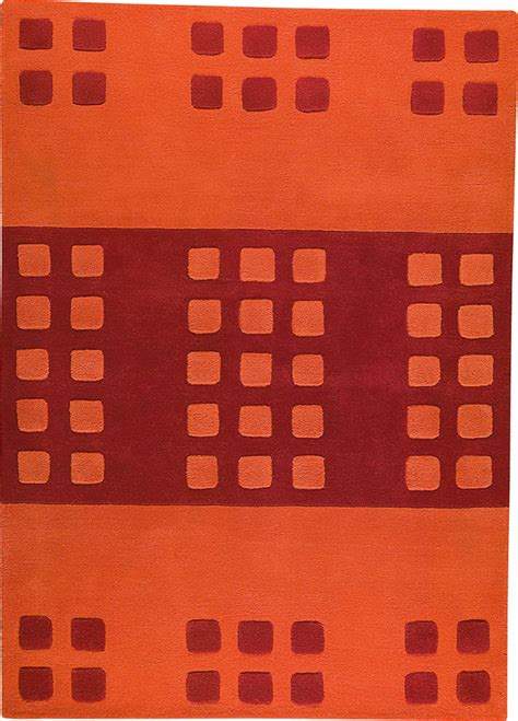Orange Modern Rugs Domino Orange Rug From The Pangea Textured Rugs Collection At Modern Area Rugs
