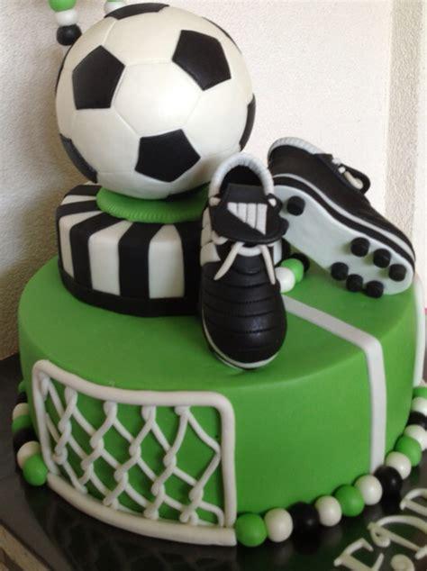 Soccer Birthday Cake soccerball birthdaycake jessicascakes cupcakes