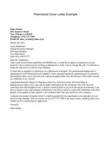 sle cover letter pharmacist sle cover letters