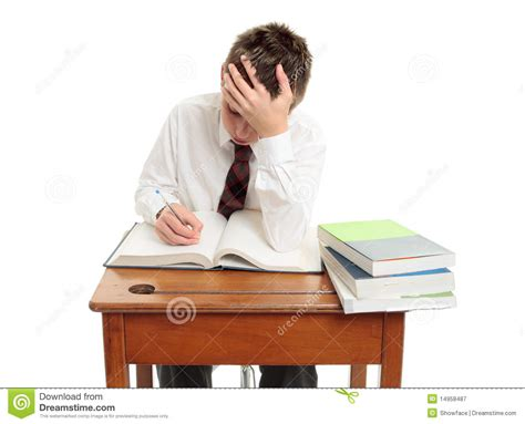 High School Student At Desk Royalty Free Stock Photography Picture Of Student Sitting At Desk