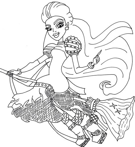 coloring page free printable free printable monster high coloring pages