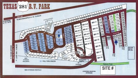 texas rv parks map map of facilities at texas 281 rv park san antonio texas