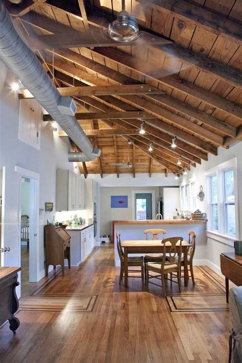 exposed rafter ceiling photos kitchen traditional with