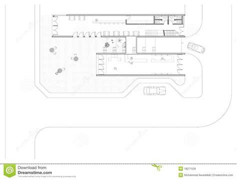 Ground Floor Plan stock vector. Image of architecture