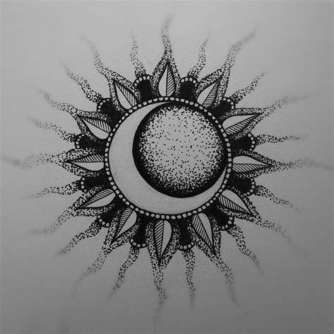 sun moon tattoo design kendall kraus