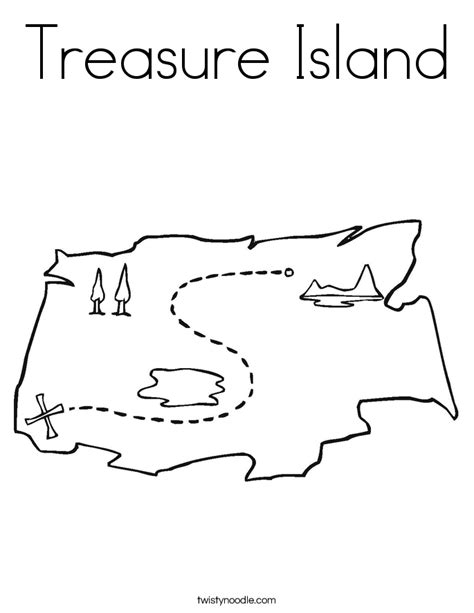 treasure island coloring page twisty noodle
