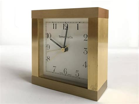 tiffany co brass desk clock brass desk clock by tiffany and co at 1stdibs