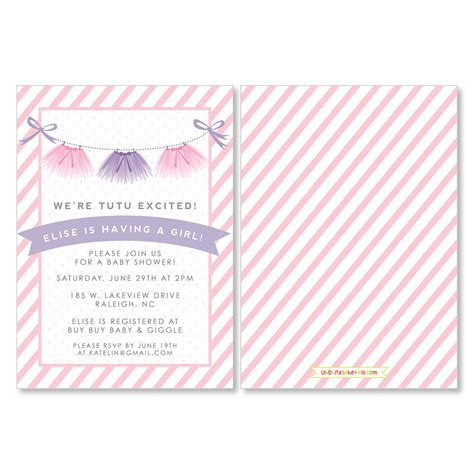 Tutu Baby Shower Invitations by Tutu Excited Uh Oh Pasghettio